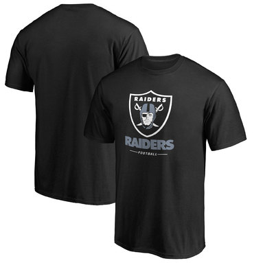 Oakland Raiders Pro Line Team Lockup T-Shirt - Black