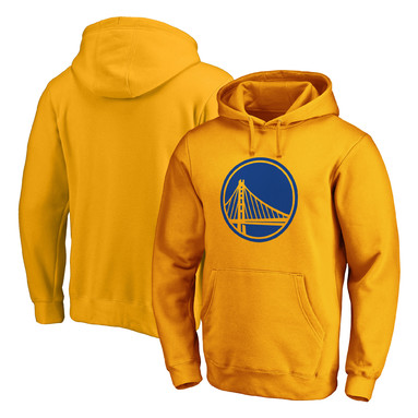 Golden State Warriors Fanatics Branded Primary Team Logo Pullover Hoodie - Gold