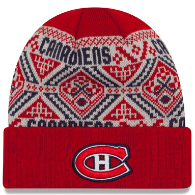 Montreal Canadiens New Era Cozy Cuffed Knit Hat - Red