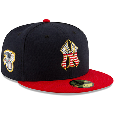 New York Yankees New Era 2019 Stars & Stripes 4th of July On-Field 59FIFTY Fitted Hat - Navy/Red