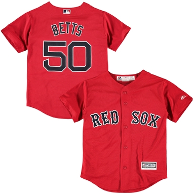 Mookie Betts Boston Red Sox Youth Official Cool Base Player Jersey - Red