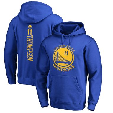 Klay Thompson Golden State Warriors Stacked Name & Number Pullover Hoodie - Royal