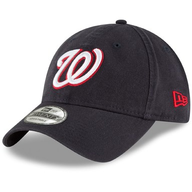 Washington Nationals New Era Core Classic Secondary 9TWENTY Adjustable Hat - Navy