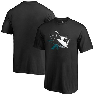 San Jose Sharks Fanatics Branded Youth Gradient Logo T-Shirt - Black