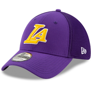 Los Angeles Lakers New Era Back Half Series 39THIRTY Flex Hat - Purple