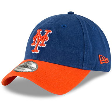 New York Mets New Era Core Classic Secondary 9TWENTY Adjustable Hat - Royal/Orange