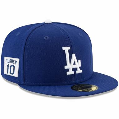 Justin Turner Los Angeles Dodgers New Era Player Patch 59FIFTY Fitted Hat - Royal