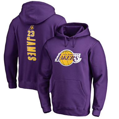 LeBron James Los Angeles Lakers Fanatics Branded Big & Tall Backer Pullover Hoodie – Purple