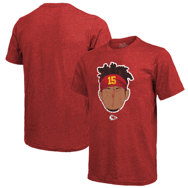 Patrick Mahomes Kansas City Chiefs Majestic Threads Tri-Blend Player Graphic T-Shirt - Red